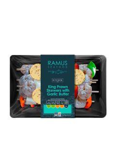 Ramus Seafood - King Prawn Skewers with Garlic Butter - 4 x 240g (Min 4 DSL)