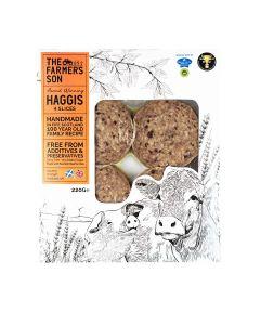 The Farmers Son - Scottish Haggis 4 Sliced - 6 x 220g (Min 19 DSL)