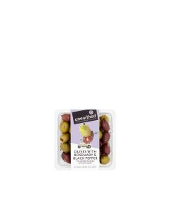 Unearthed - Olives with Rosemary & Black pepper  - 12 x 230g (Min 30 DSL)
