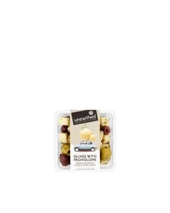 Unearthed - Green and black olives with Italian provolone and mixed herbs - 12 x 210g (Min 30 DSL)