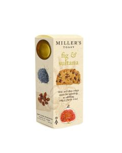 Artisan Biscuits - Miller's Fig & Sultana Toasts - 6 x 100g