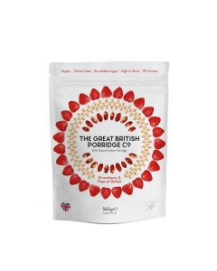 Great British Porridge Co, The - Strawberry & Peanut Butter Porridge - 4 x 385g