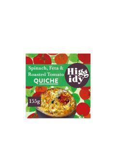 Higgidy - Spinach, Feta & Roasted Tomato Quiche - 6 x 155g (Min 4 DSL)