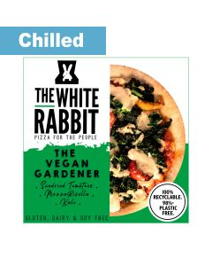 The White Rabbit Pizza Co. - The Vegan Gardener Gluten Free Pizza - 4 x 340g